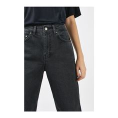 Boyfriend Jeans by Boutique (920 SEK) ❤ liked on Polyvore featuring jeans, black, high waisted jeans, high waisted boyfriend jeans, topshop jeans, rolled up jeans and high rise jeans