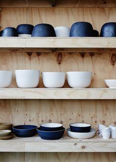 Anchor Ceramics - The Design Files Ceramic Tableware, Kitchenware, Ceramic Bowls, Plywood Furniture, Modern Furniture, Furniture Design, House Ideas, Farmhouse Side Table, Ceramic Studio