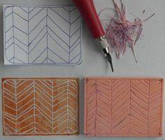 Stempel Yvon: Stamp Carving les 3: Fijne lijntjes