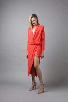 Mason by Michelle Mason Lace Slip Wrap Dress Profile Photo