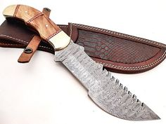 Custom Made damascus Tracker Knife