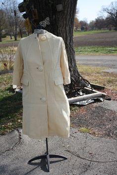 Vintage 1970s ALine Wool Blend Coat  Light by VarietyVintagebyALD, $16.50