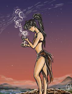 Alessia V, 'The Mage', digital 2014.
