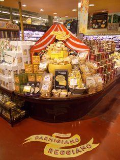 Parmigiano Reggiano handmade display - WFM Minneapolis