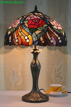 Rose Tiffany Lamp 16S0-111T311
