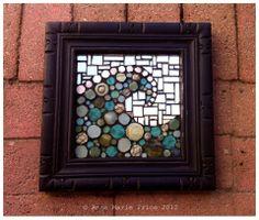 Wave mosaic by Anne Marie Price www.ampriceart.com #mosaic #art #mosaicart #AMP #wave #ocean #HB #HuntingtonBeach #CA