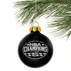 San Antonio Spurs 2014 NBA Finals Champions Glass Ball Ornament