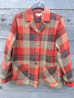 Vintage Pendleton 49er Plaid Western wool coat by Simplemiles, $65.00