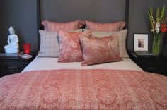 Leitner Teresa Striped Linen Cotton Bedding & Table Linens - 11 Colors