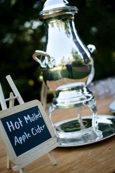 Hot mulled cider @ my fall wedding <3
