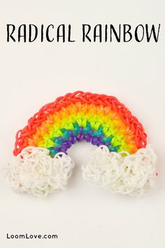 How to make a Radical Rainbow on a Hook - Rainbow Loom video tutorial