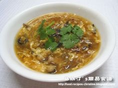 Imitation Shark Fin Soup - Christine's Recipes // Just chicken and pork! No seafood. No harm to sharks.  Say NO TO SHARK FINNING! No need for it..