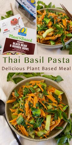 "AD: Thai Basil Pasta is simple to prepare and packs a delicious flavor punch. Creamy coconut sauce loaded with veggies, and served over pasta; it's perfect for a quick and convenient ""Meatless Monday"" weeknight dinner using #OOrganics and #OpenNature plant-based meal solutions that I bought at #Vons."
