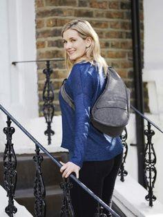 Textured Nylon Pewter Healthy Back Bag