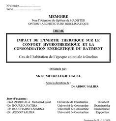ArchiGuelma: Mémoire: Impact de l'inertie thermique sur le confort…