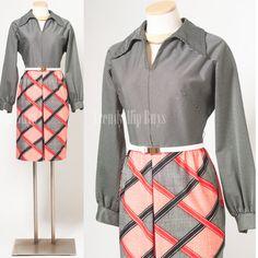 Mod Dress 60s Dress Mad Men Dress Space by TrendyHipBuysVintage