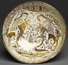 Bowl with riders in a landscape, Great Seljuq Period, late 12th century