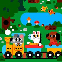 Choo choo goes the train that rides through the park. • • • #art #animals #artstagram #drawing #illustration #kidsbooks #childrensbooks #comics #picturebook #sound #childrensbook #kidsbook #instaart #artgallery #kidlit #kidlitart #artoftheday #japan #kidsbookstagram #repost #doodles #sketch #illustrator #illustration #kids #book #doodle #water #whale #kawaii