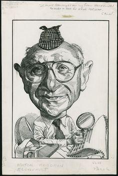 Milton Friedman by Kerry Waghorn, 1986