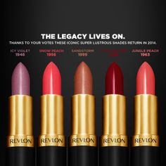 Revlon To Re-Release Iconic Shades of Lipstick!