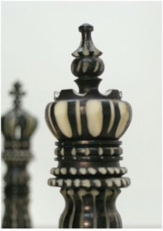 Beautifully handcrafted bone chess pieces. We just love beautiful craftsmanship like this! There is great skill needed to intricately crave the bone for these pieces! X2009. Brought to you by ChessBaron.co.uk