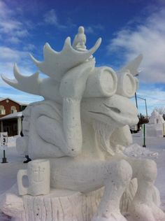 Want to Create Snowmen Move to Anchorage Moose Pictures, Snow Pictures, Snow Sculptures, Sculpture Art, Metal Sculptures, Abstract Sculpture, Bronze Sculpture, Snow In Florida, Legos