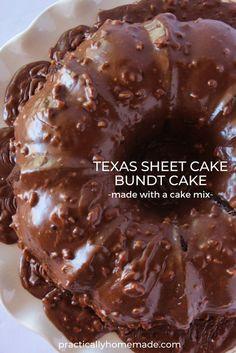 Chocolate Pecan Cake Recipe, Chocolate Desserts, Chocolate Cake Mixes, Chocolate Sheet Cakes, Pecan Pie Cake, Chocolate Cobbler, Chocolate Fudge, Melting Chocolate, Sheet Cake Recipes