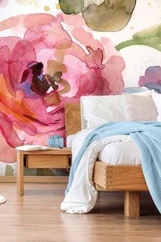 Garden Macro Garden Wallpaper Bring vibrancy to your bedroom with this glorious floral wallpaper in w
