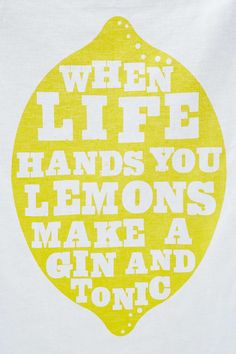 """Geschirrtuch """"Lemon and Gin"""""""