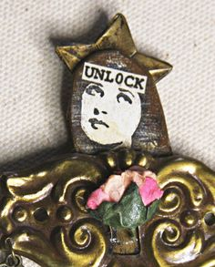 Small Assemblage Doll UNLOCK with KEY Hardware by VintageSupplyCo