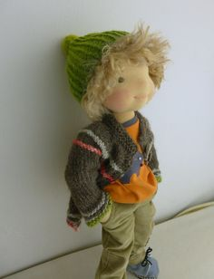 """Inspiration for Waldorf-style doll I will be making for Baby Stang when he is a toddler-j. 19"""" waldorf boy doll"""