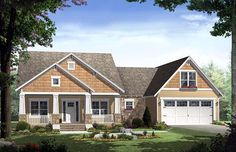 House Plan 59148 | Bungalow   Craftsman    Plan with 1800 Sq. Ft., 3 Bedrooms, 2 Bathrooms, 2 Car Garage