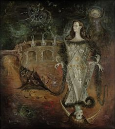 Leonora Carrington, La Maja del Tarot (The Pleasant Lady of the Tarot), 1965.