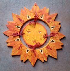 "Keramické sluníčko ""etno"" :: Keramika Andreas Clock, Pottery, Claire, Sunshine, Home Decor, Ideas, Sun Moon, Recycling, Sun"