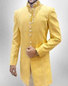 Men New Fashion Luxury Sherwani Formal Occassion IndoWestern Wedding Achkan Suit #MensFormalOccassionIndianSherwaniAchkanSuit