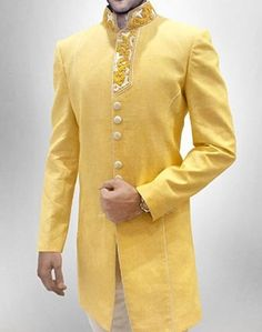 Men New Fashion Luxury Sherwani Formal Occassion IndoWestern Wedding Achkan Suit #MensFormalOccassionIndianSherwaniAchkanSuit