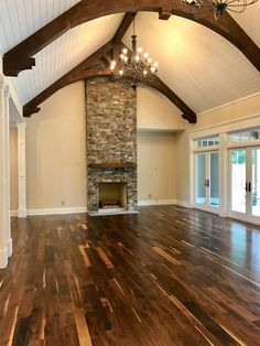Old Growth Black Walnut Hardwood Flooring - Trend Characters Design 2019 Walnut Hardwood Flooring, Wide Plank Flooring, Hardwood Floors In Kitchen, Walnut Timber, How To Antique Wood, New Homes, House Plans, Beautiful, Black Wood Floors