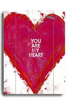 Artehouse - You Are My Heart My Heart Is Yours, I Love Heart, With All My Heart, Heart Beat, Happy Heart, Pallet Art, Pallet Projects, Projects To Try, Pallet Boards