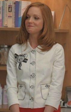 Emma Pillsbury's White Kate Spade Blazer worn on Glee