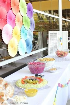 rainbow ombre baby shower