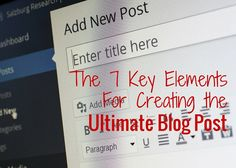 The 7 Key Elements F