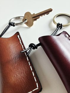 Practical leather case key chain for carrying small daily most essential item you do not want to forget.
