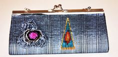 Evening Clutch BagMakeup BagHand Embellished by GinasCornerCrafts, $16.00