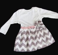 Hey, I found this really awesome Etsy listing at https://www.etsy.com/listing/163331004/boutique-baby-chevron-onesie-dress-in