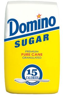 Granulated Sugar    Domino® Granulated Pure Cane Sugar is extra fine granulated, free-flowing and of the highest quality. This all-purpose sugar is ideal for table use, baking, preserving, canning, and for sweetening beverages