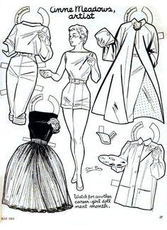 """Anne Meadows, artist: Career Girls"" by Davi Botts, ""Children's Activities"" magazine (1b) |  6a00e55392461e8833010536235ea8970c-pi (434×600)"