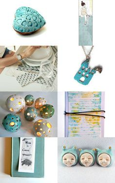 Turquoise by Mammabook on Etsy--Pinned with TreasuryPin.com