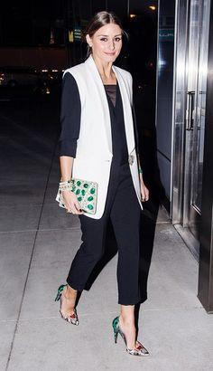 Vocês já sabem que eu adoro a Olivia Palermo, it girl americana referência no mundo da moda pelo seu estilo moderno e elegante! Seus looks parecem prá...
