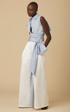 Cotton Poplin Tie Back Shirt by TOME for Preorder on Moda Operandi