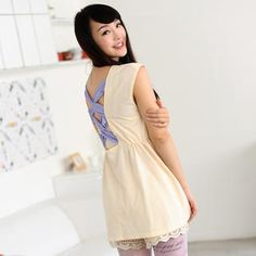 Buy '59 Seconds – Lace-Up Back Gathered-Waist Tunic' with Free International Shipping at YesStyle.com. Browse and shop for thousands of Asian fashion items from Hong Kong and more!